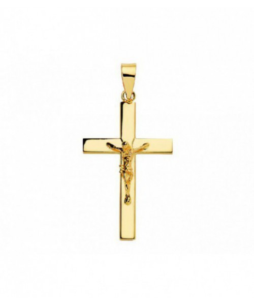 Cruz Oro 18 Quilates Cristo