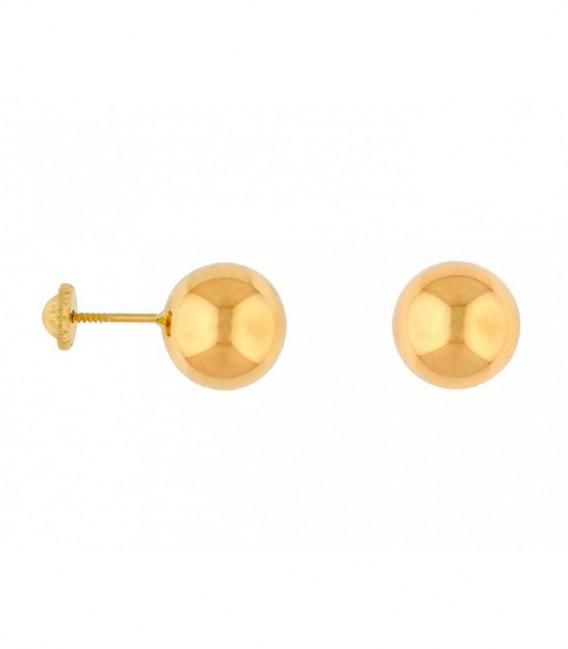 Pendientes Oro 18 Quilates Bola 7mm